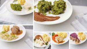 6 borden gemalen maaltijden