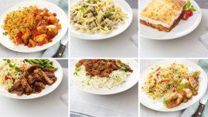 6 borden internationaal eten